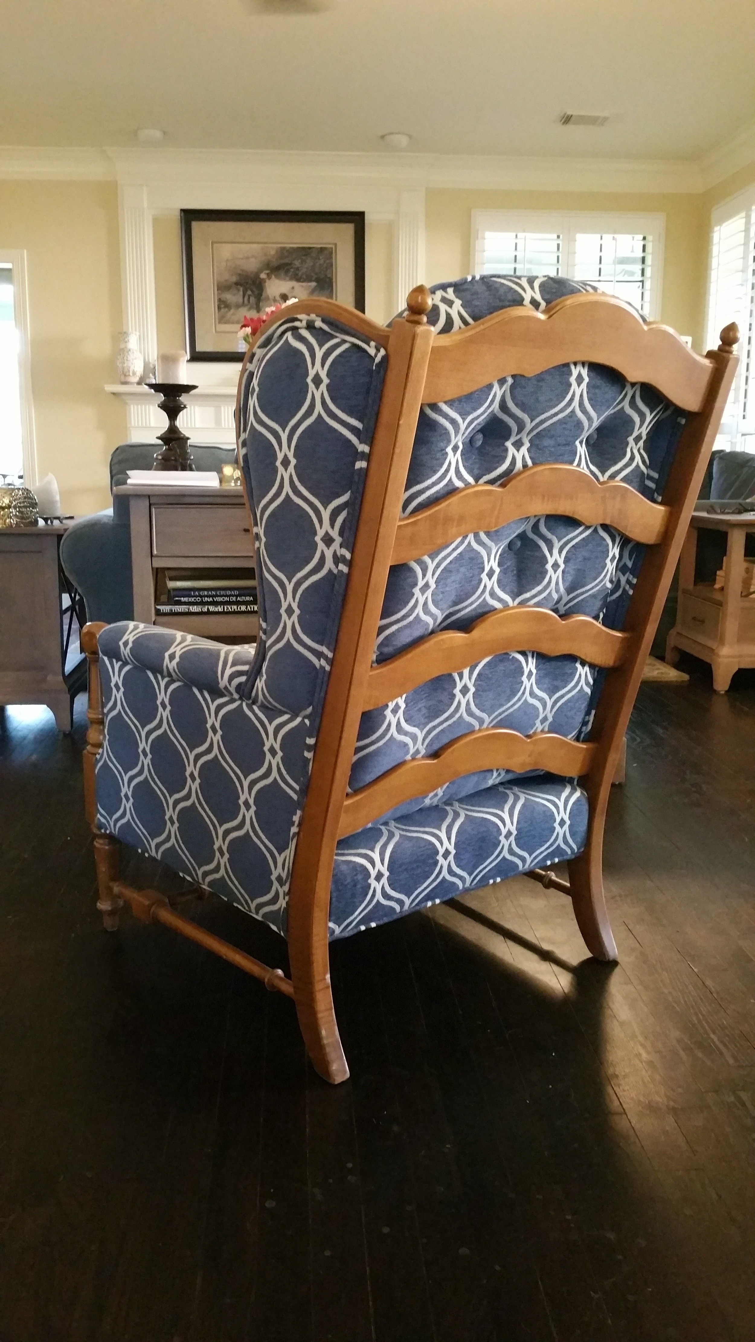 Wing-back Chair recovered