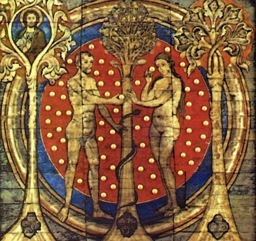 St. Michael's Church, Hildesheim Germany Adam and Eve (1192 AD)