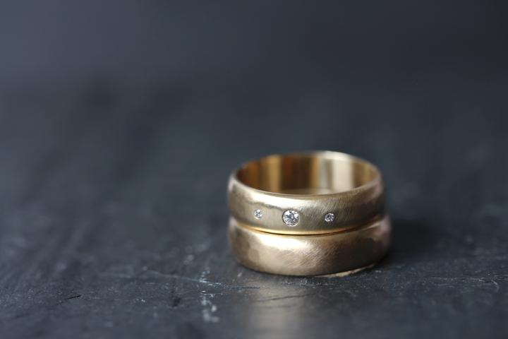 Rebecca Mir Grady 5mm Alcott Diamond 14k Gold Rings