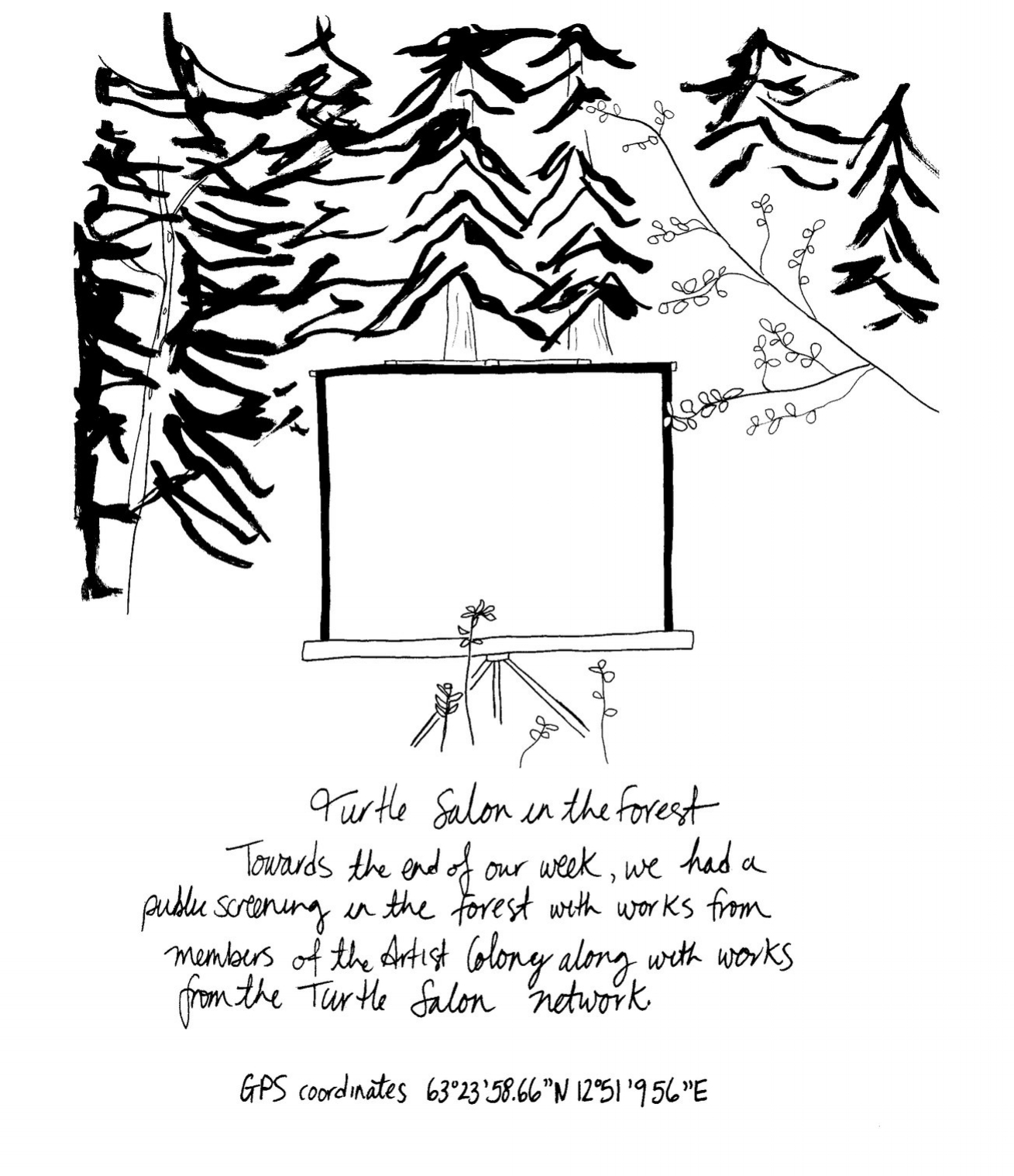 a screening in the forest