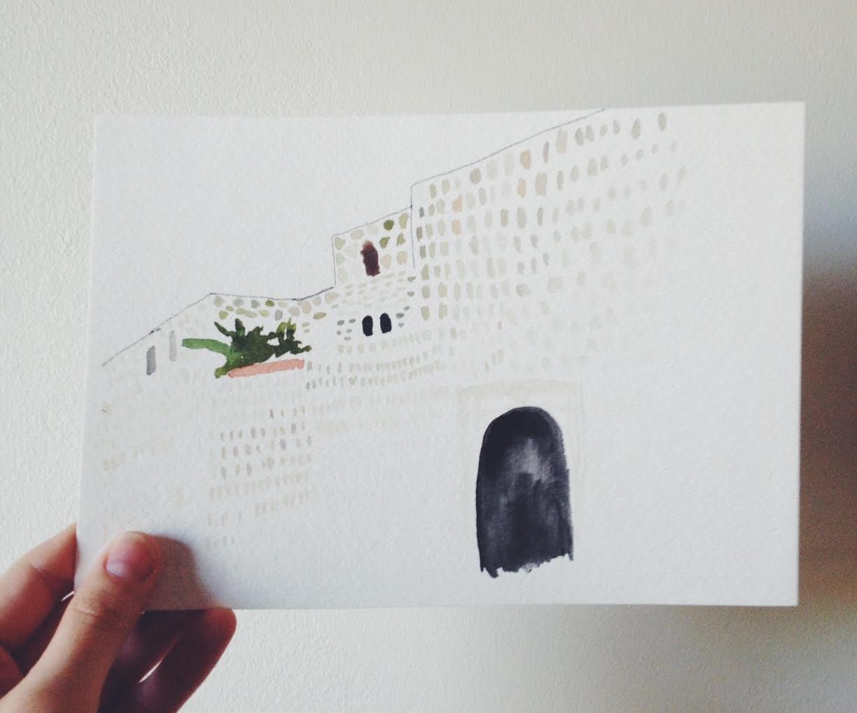 Oaxaca watercolor - rebecca mir grady