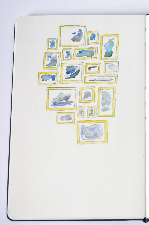 watercolor wall - rebecca mir grady
