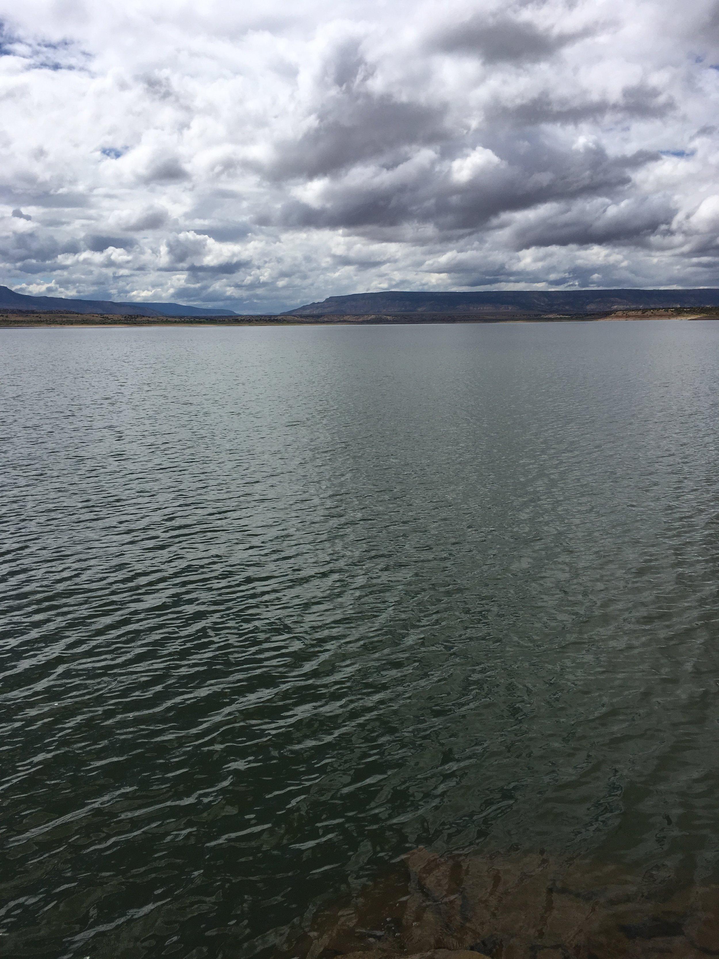 Clouds at the lake