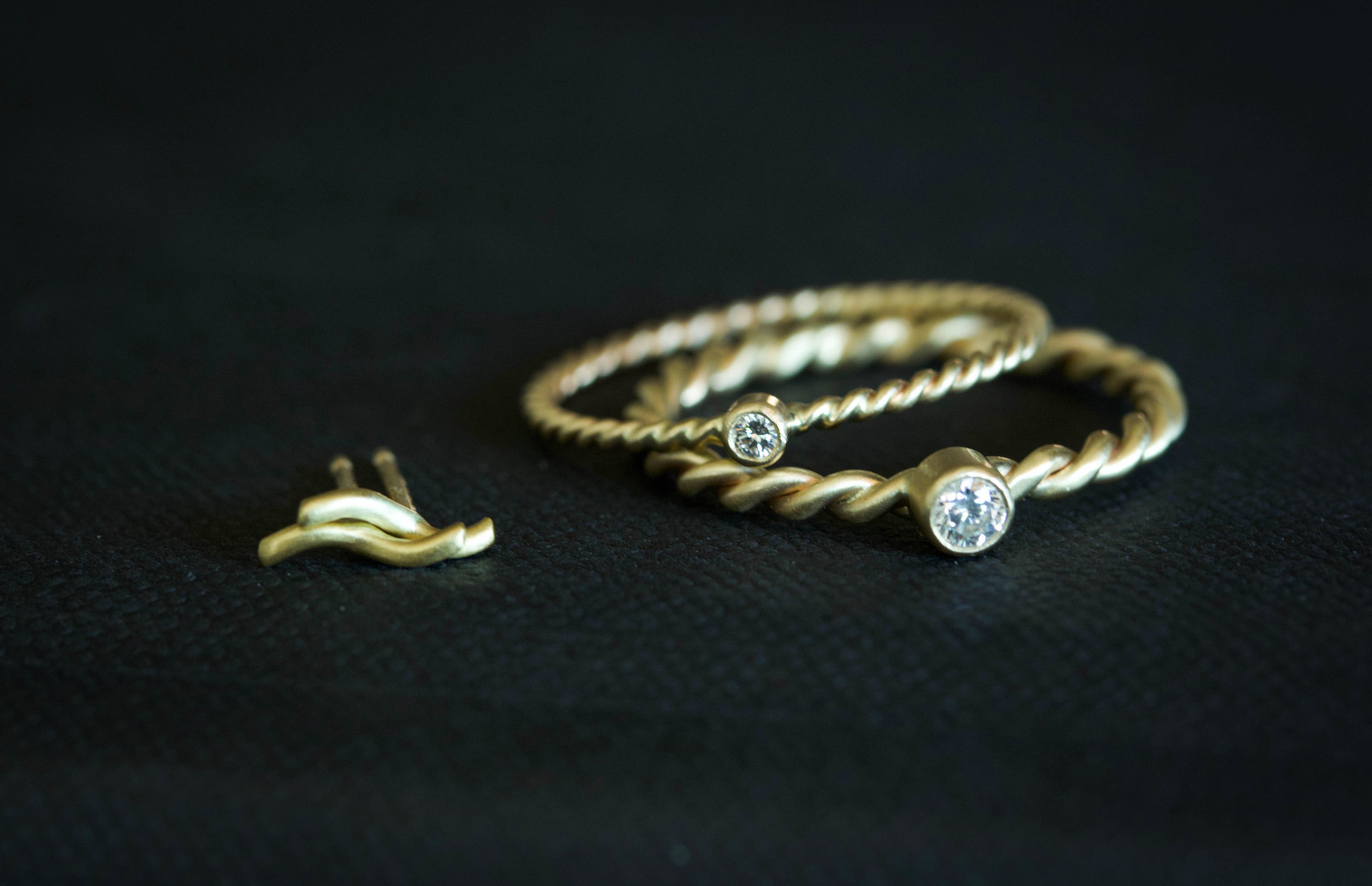 RMG Collection IX Diamond Rope rings and Wave studs.jpg