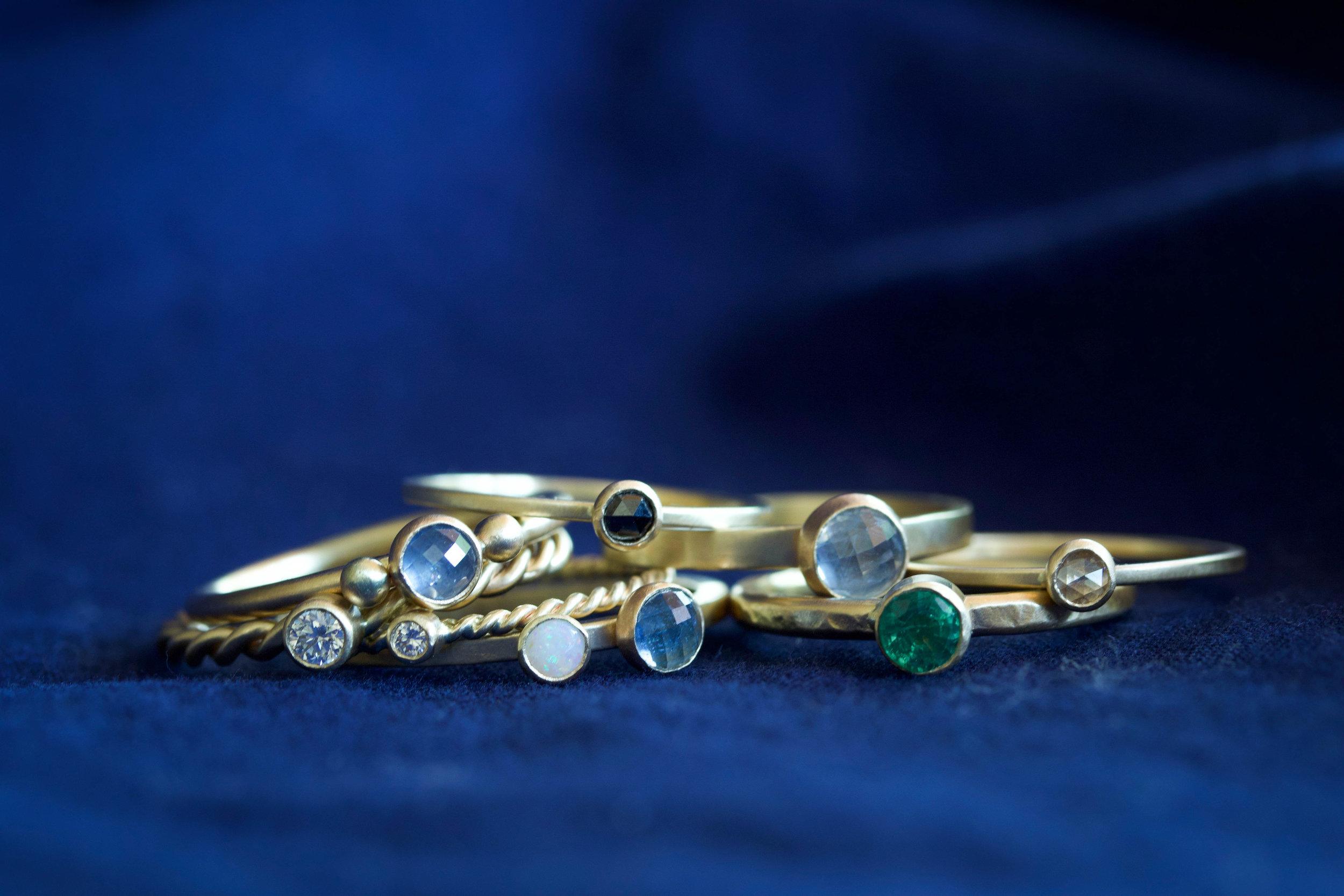 RMG Collection IX rosecut stacking rings.jpg