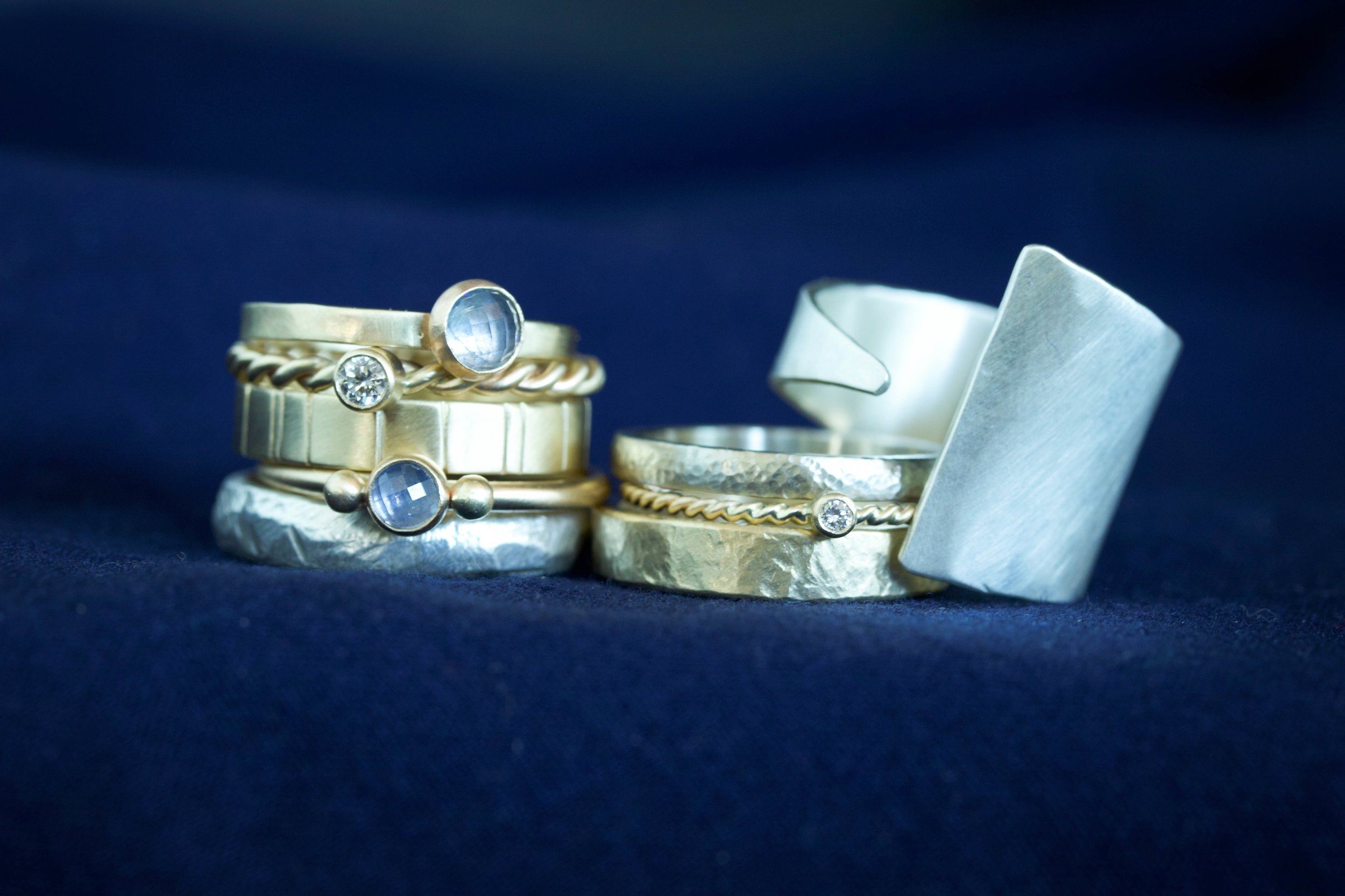 RMG Collection IX sterling silver and 14k gold stacking rings.jpg