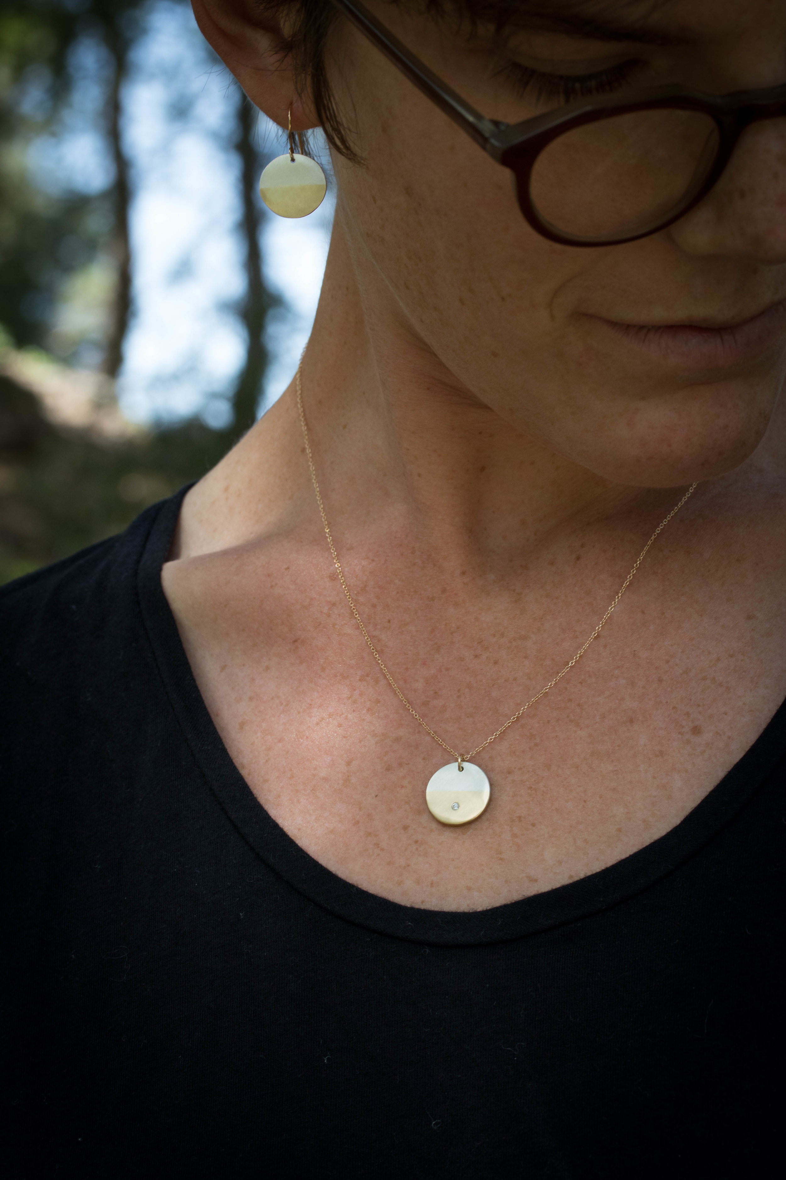 RMG Sunrise earrings and Sunrise Diamond necklace.jpg