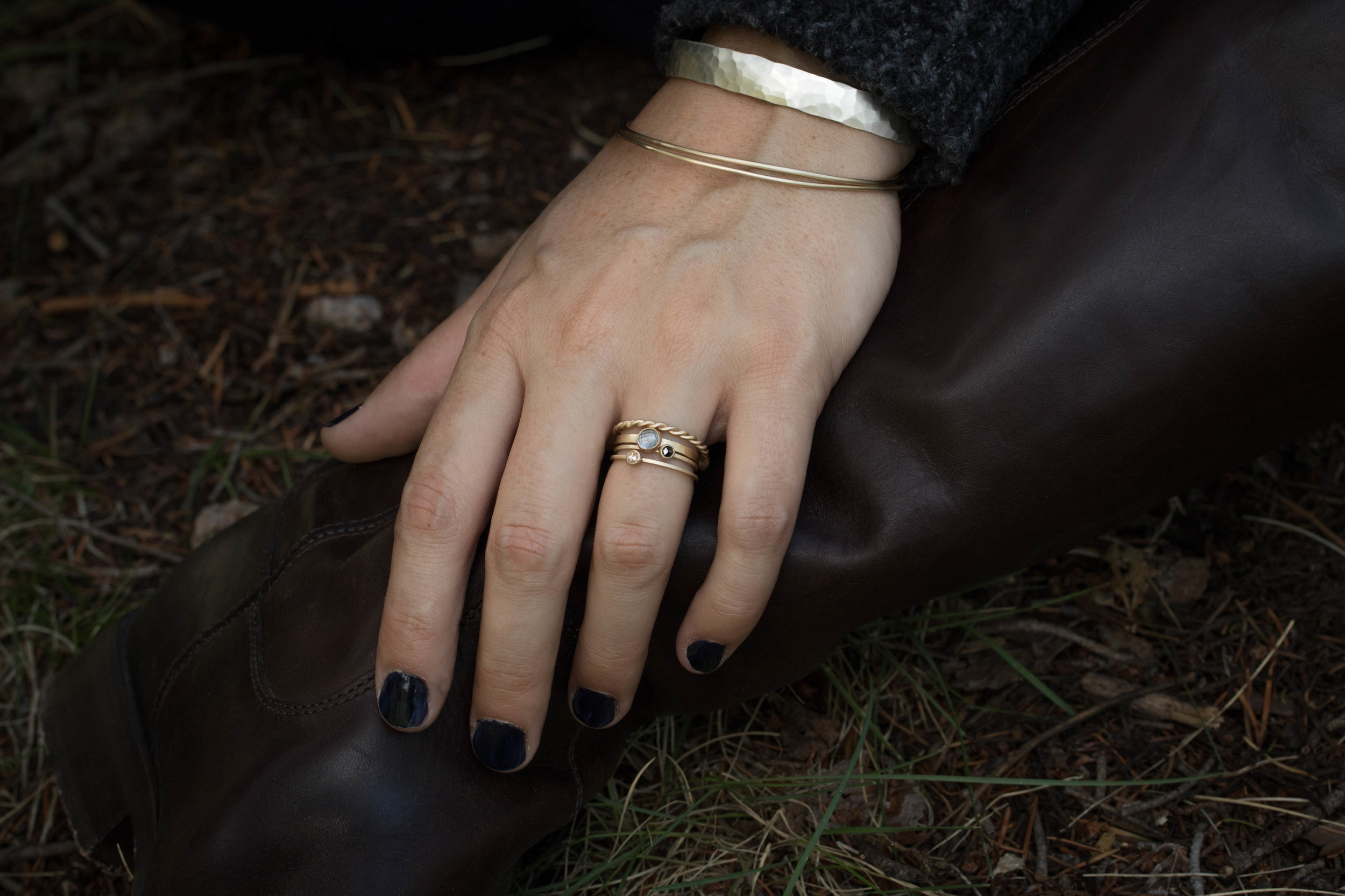 Rosecut Stacking rings close up, with Mitla cuff.jpg