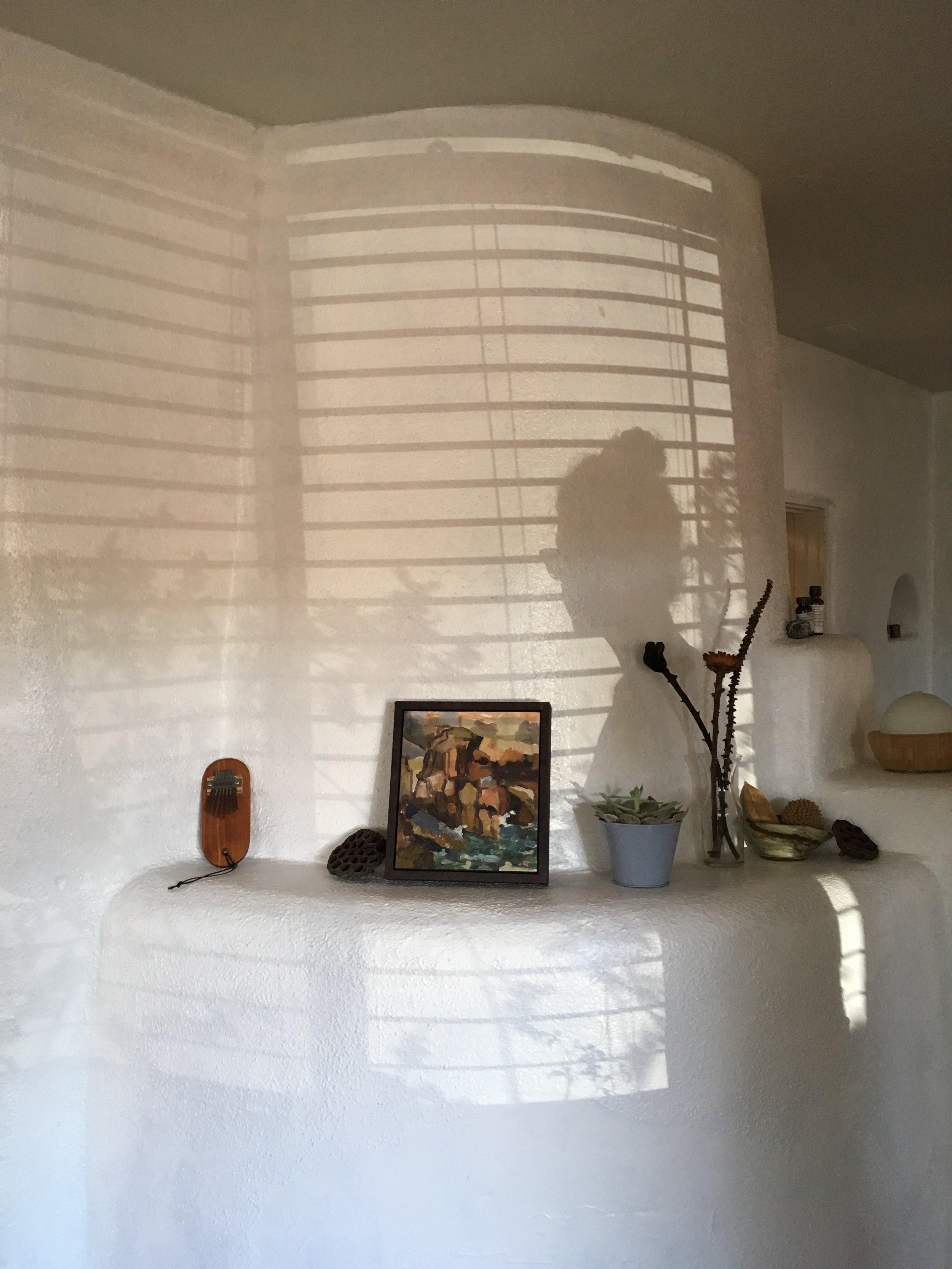 Santa Fe Style - Adobe Kiva Fireplace - Rebecca Mir Grady