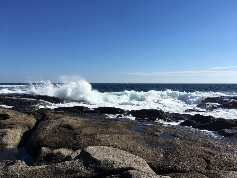 the waves at Nubble Point, in York