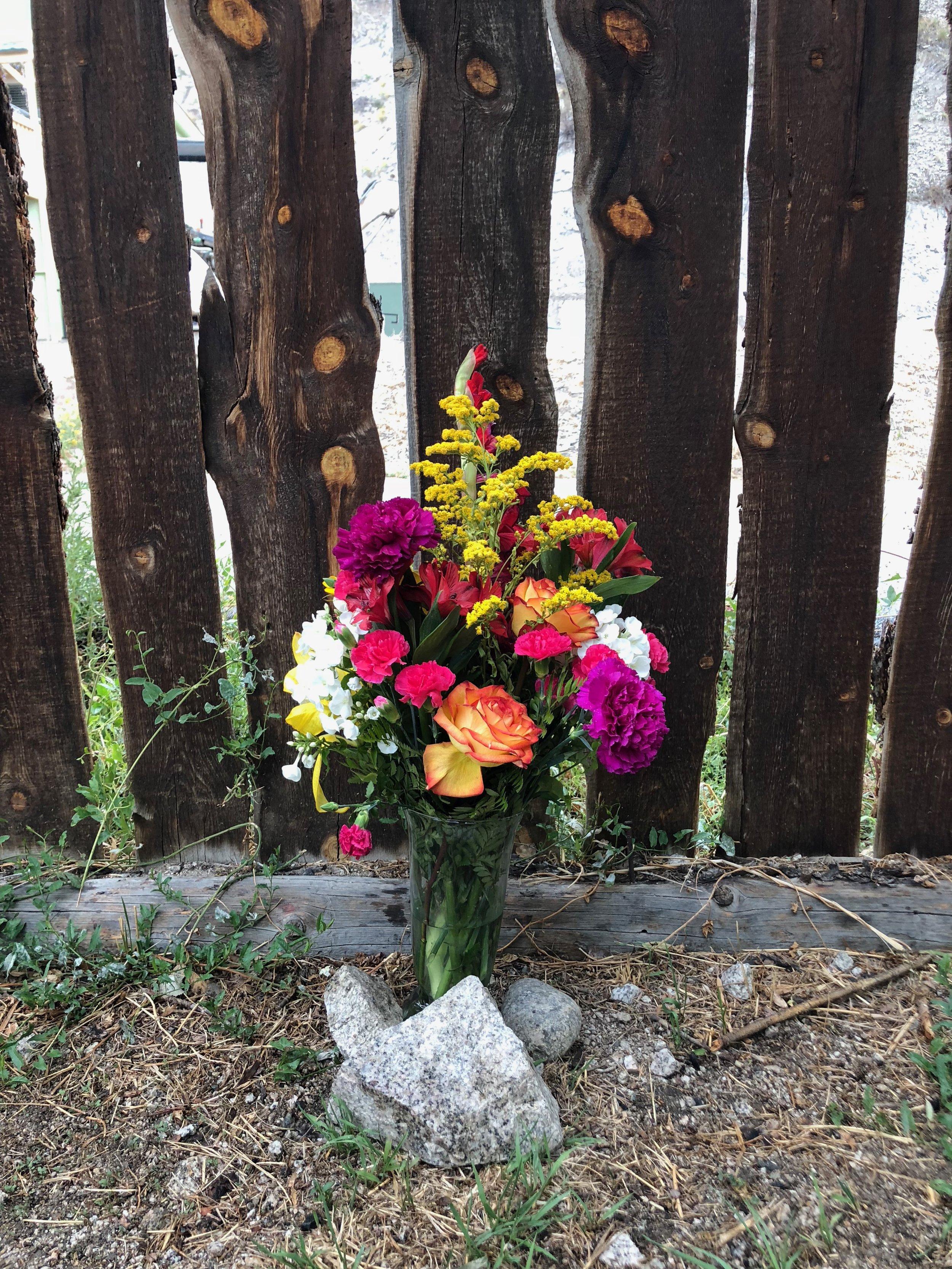 camp flowers at cottonwood hot springs - rebecca mir grady