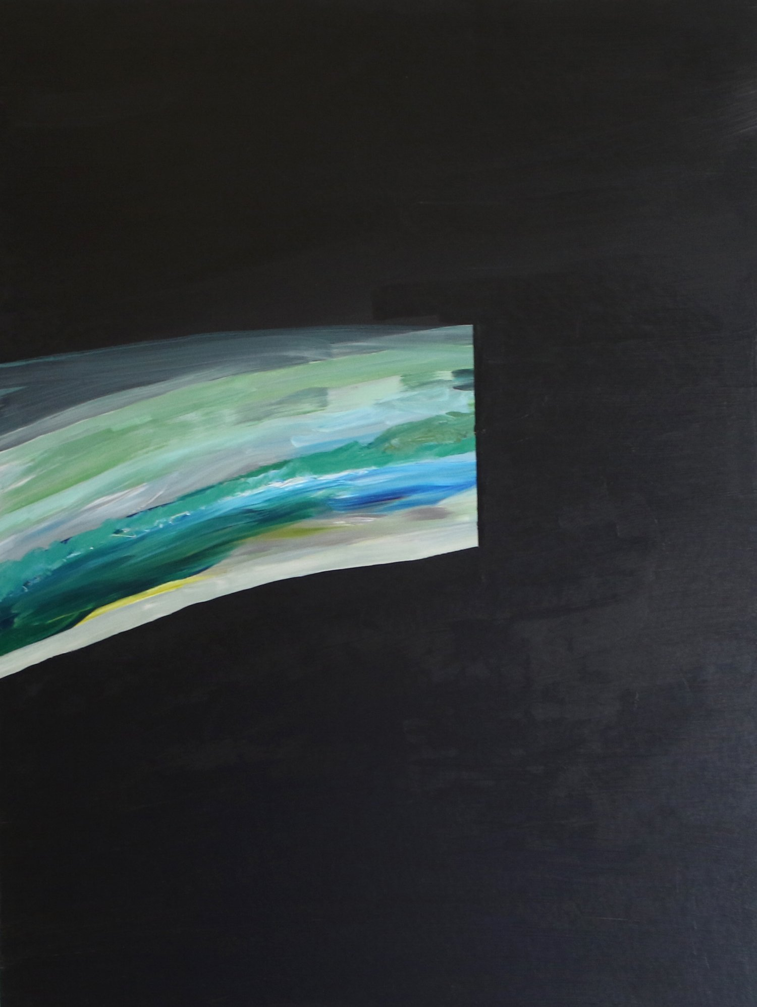 """underwater light 7"" acrylic on wood panel"