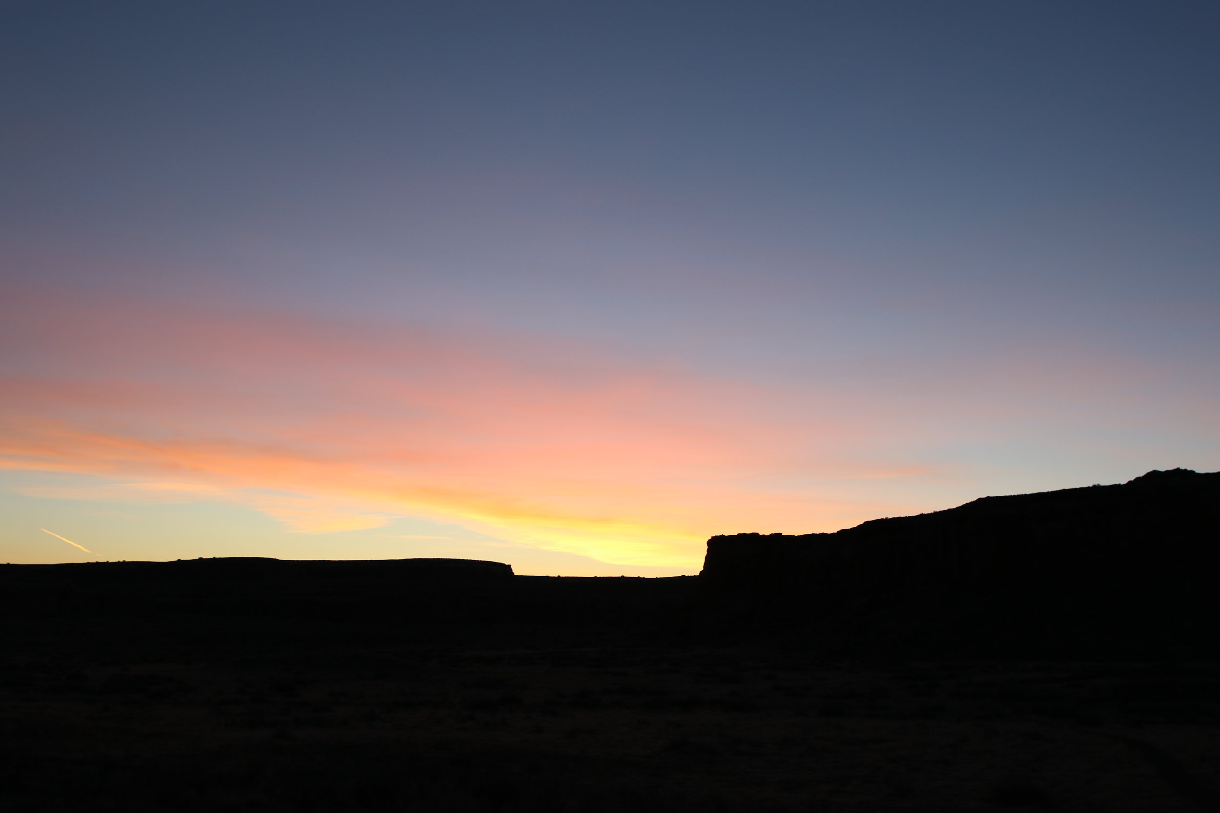 Spring Equinox sunrise at Chaco Culture National Historical Park