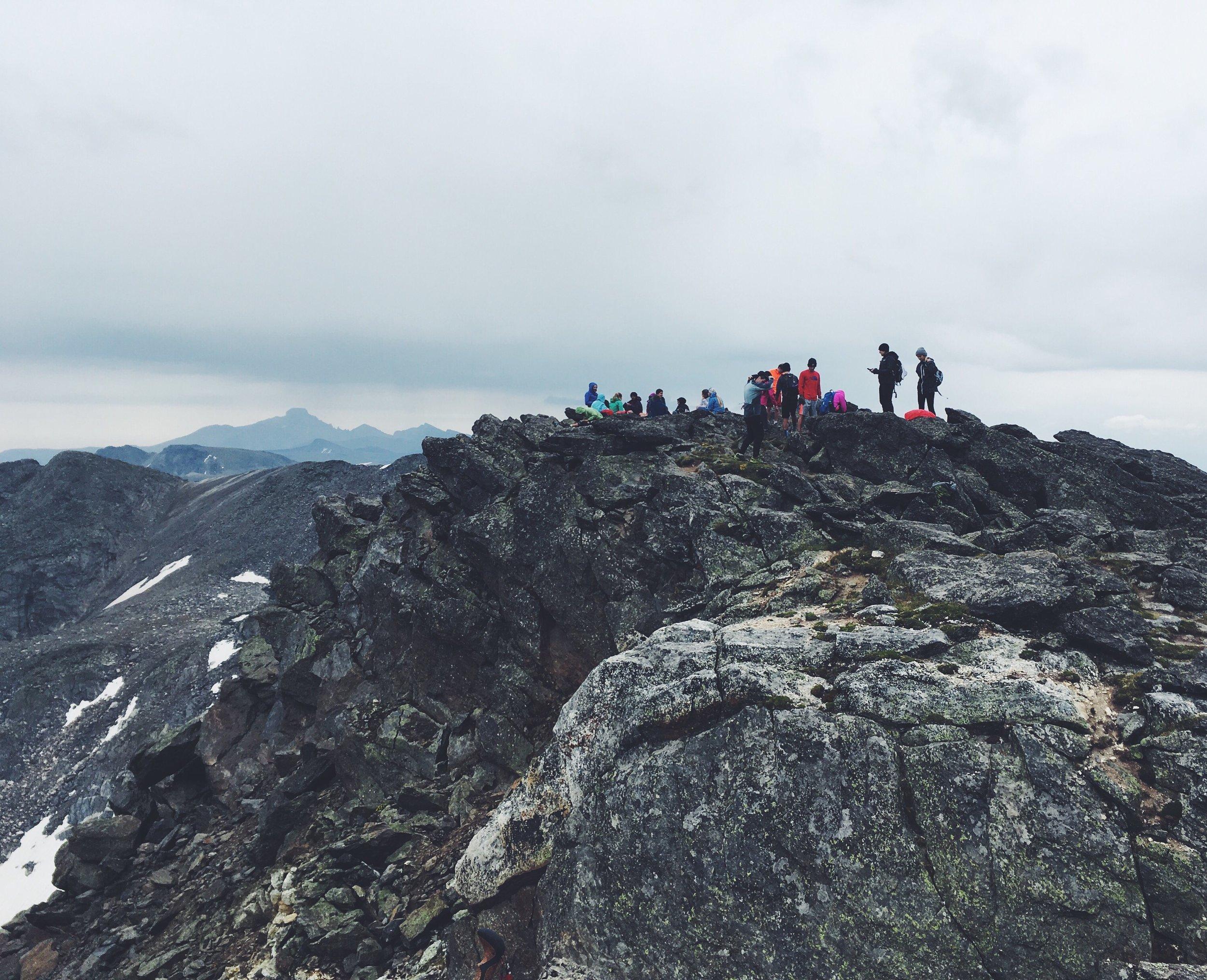 at the top of Mt. Ida