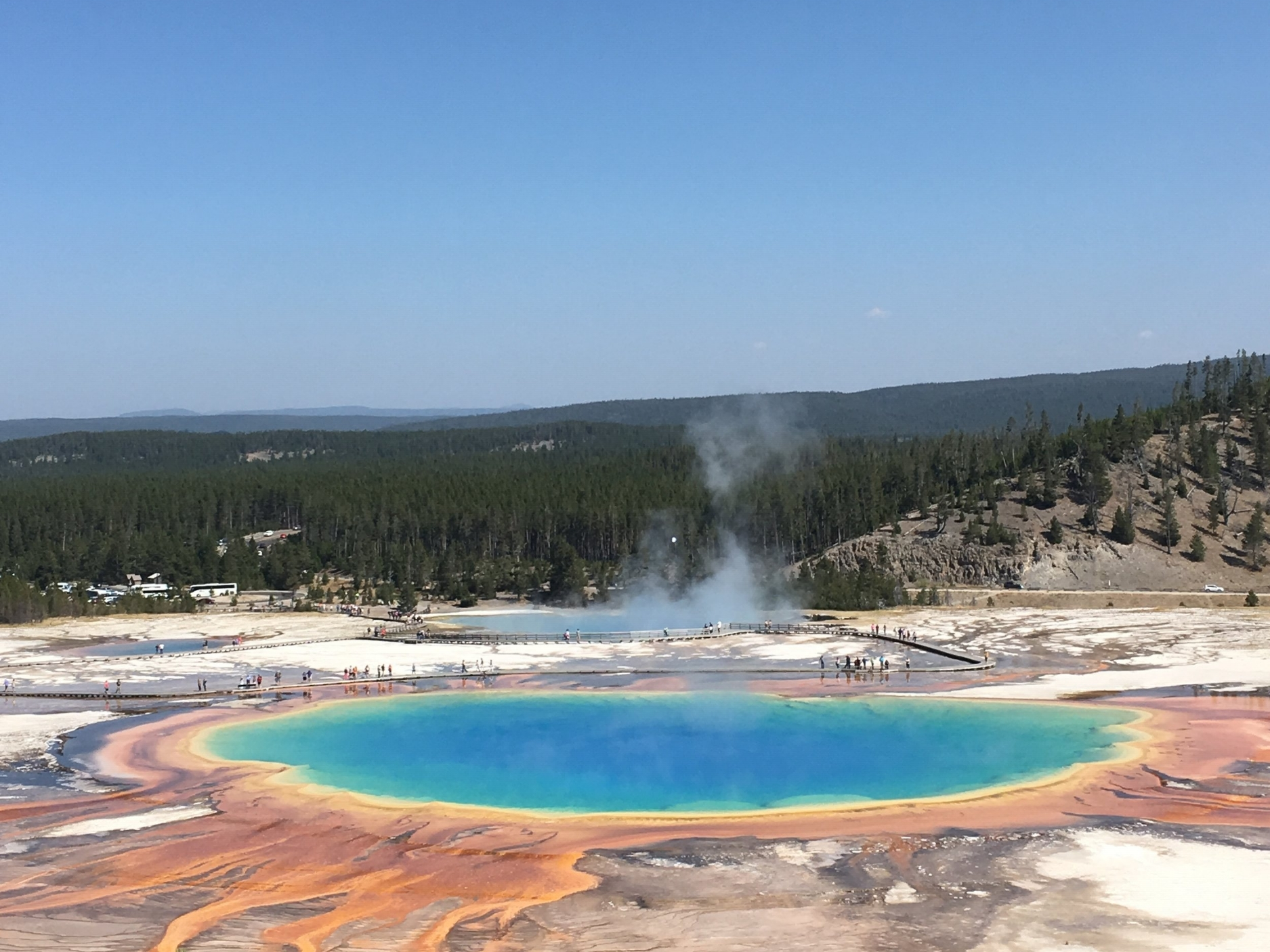 Grand Prismatic Pool in Yellowstone National Park, Wyoming