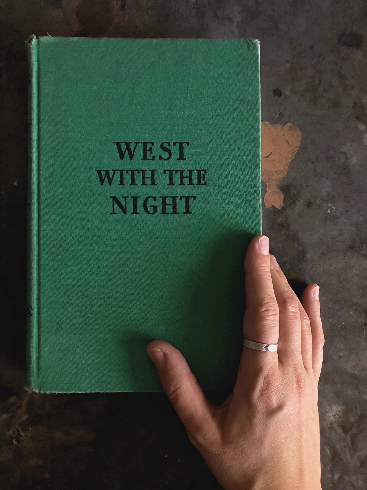 West with the Night by Beryl Markham, and the  4mm Markham  ring