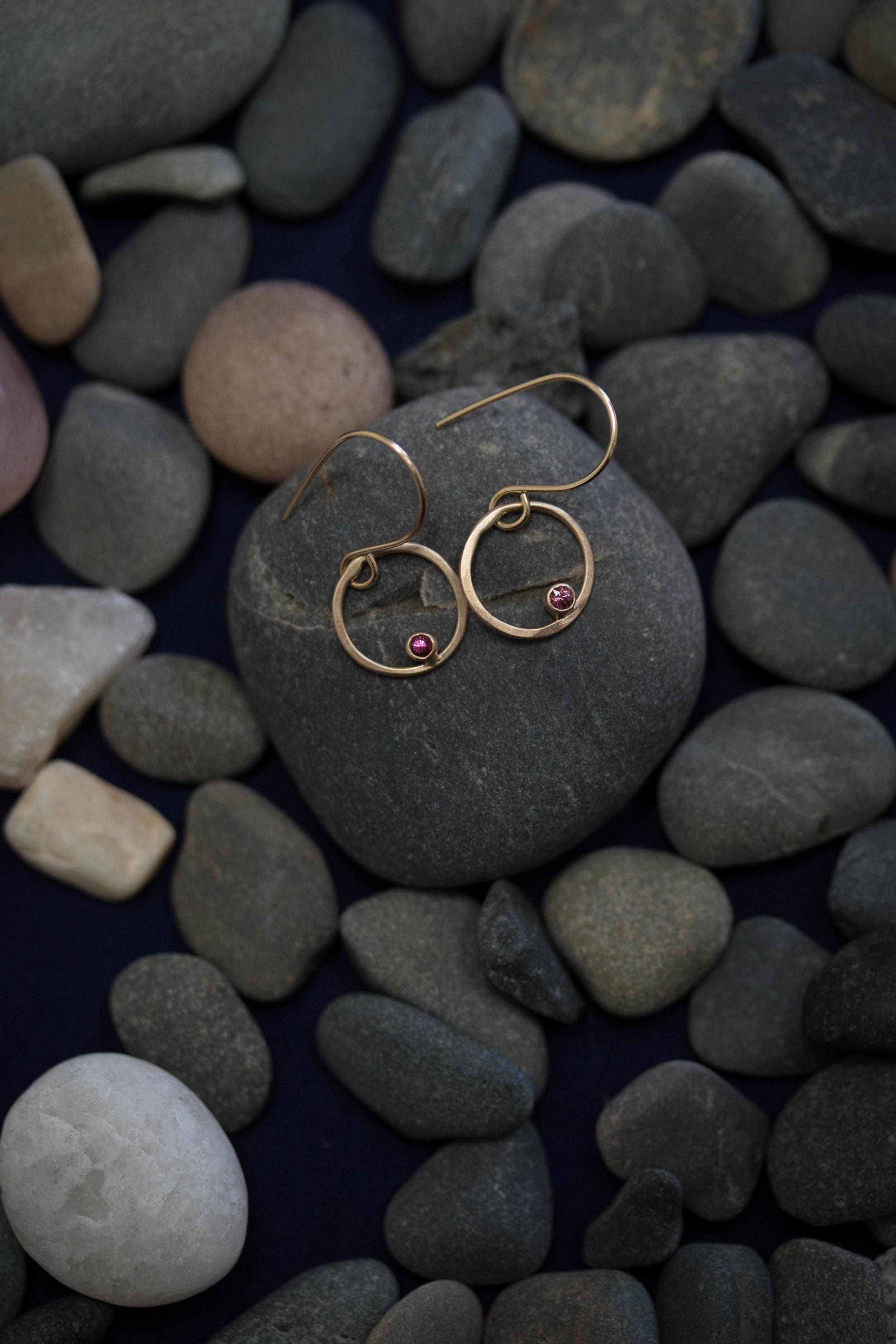 circe ruby earrings - rebecca mir grady