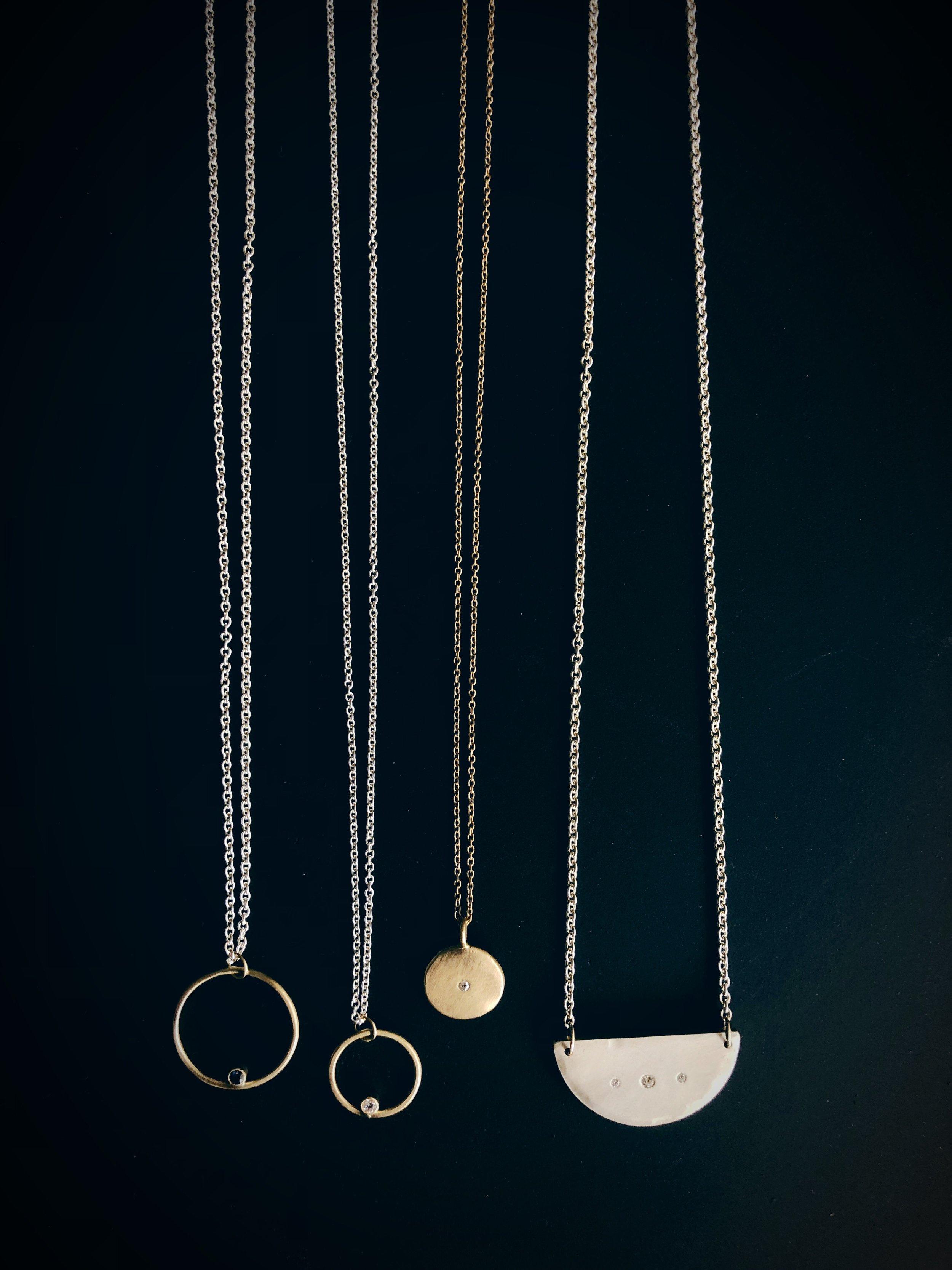 diamond and sapphire necklaces - rebecca mir grady
