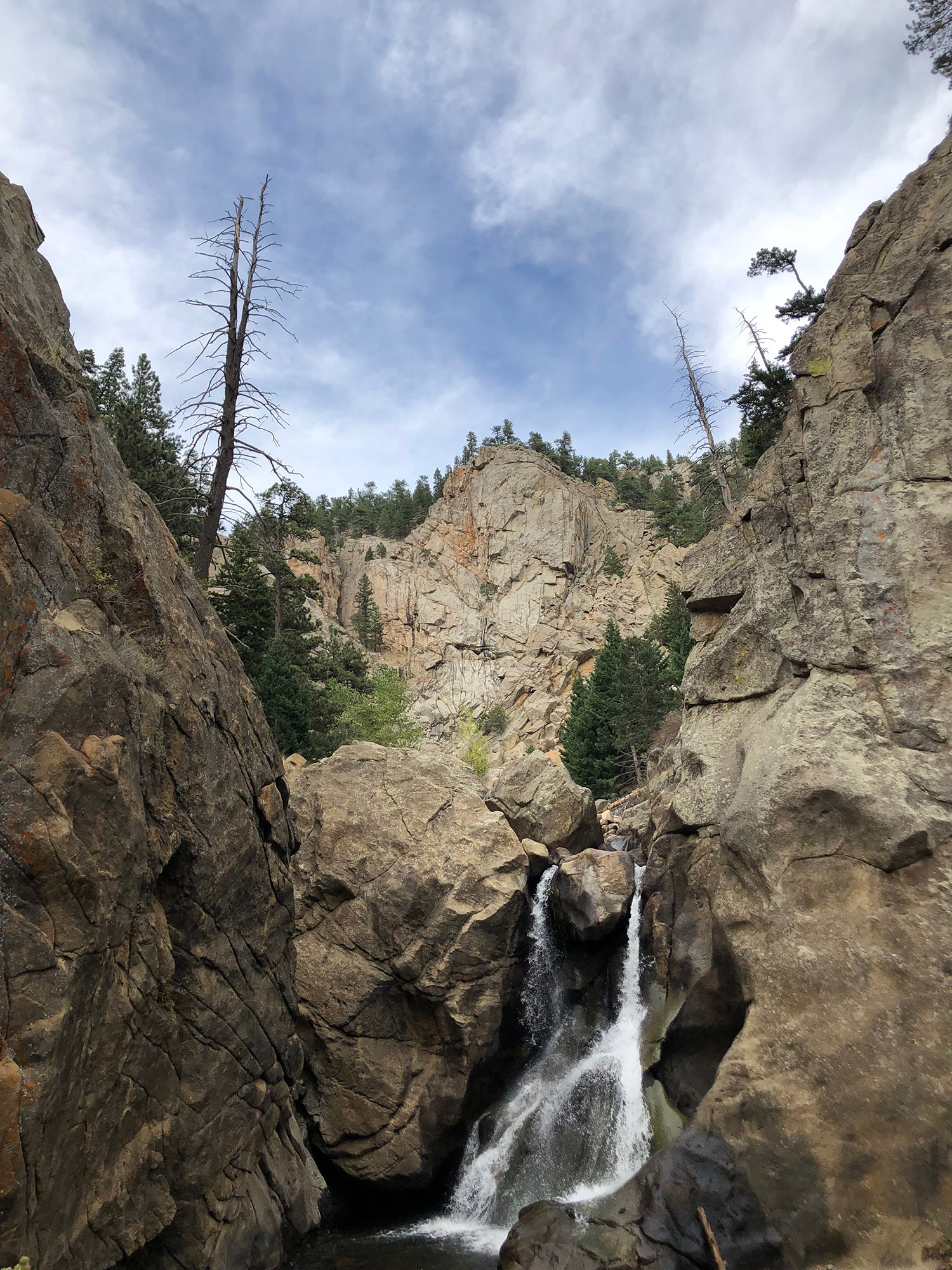 Since our big hike was cut short, we had a bit of extra time and decided check out Boulder Falls, a quick walk just off the main road in between Nederland and Boulder.