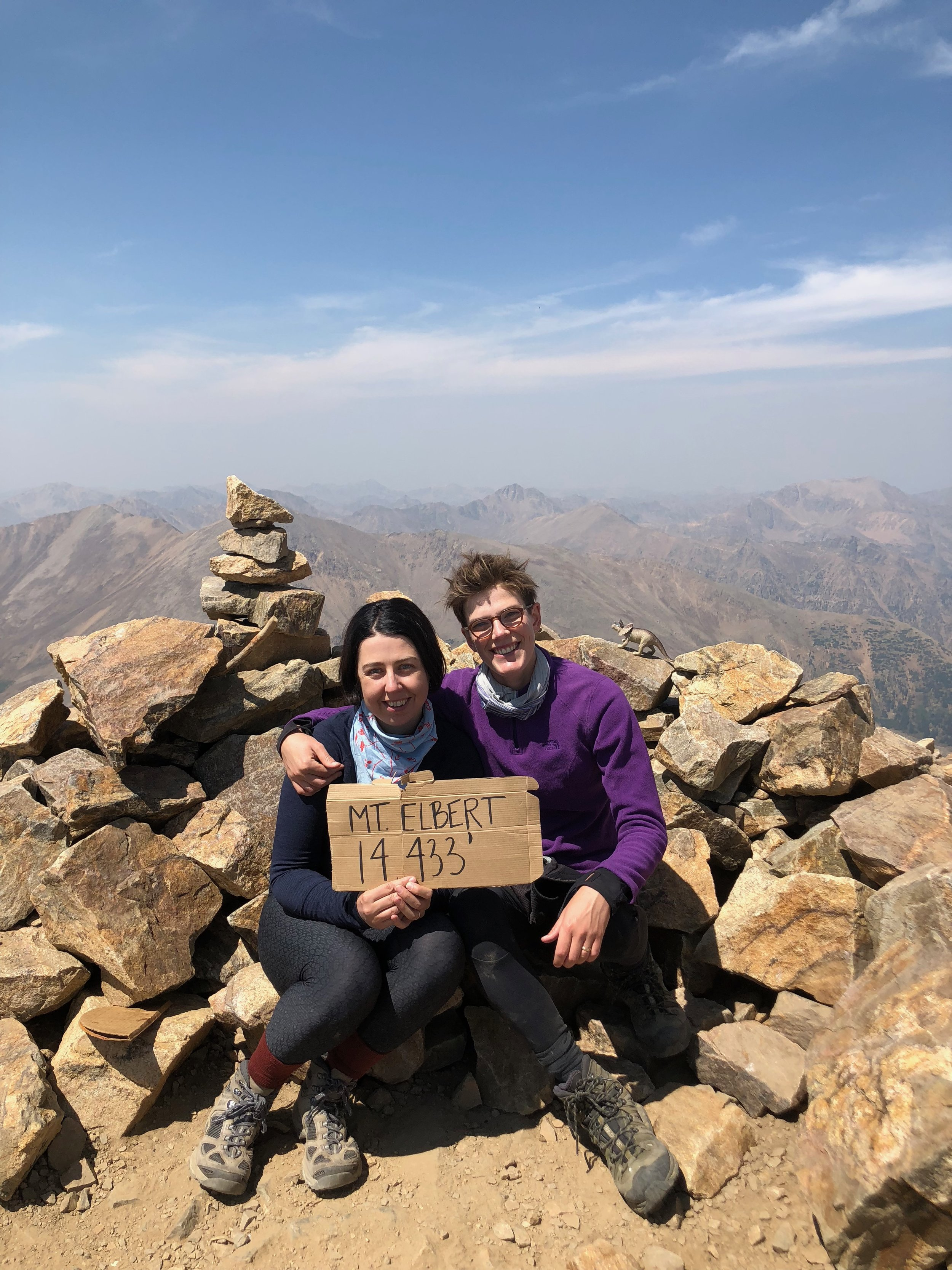 August: Sonia and I climbed  our first fourteener !