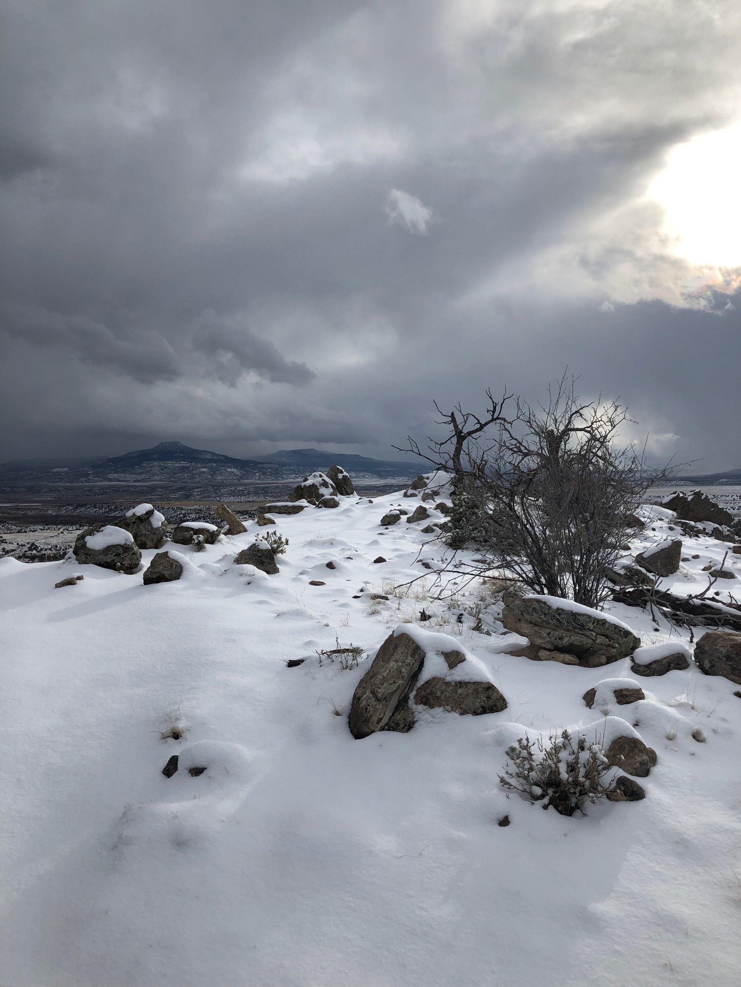 pedernal in the snow - rebecca mir grady