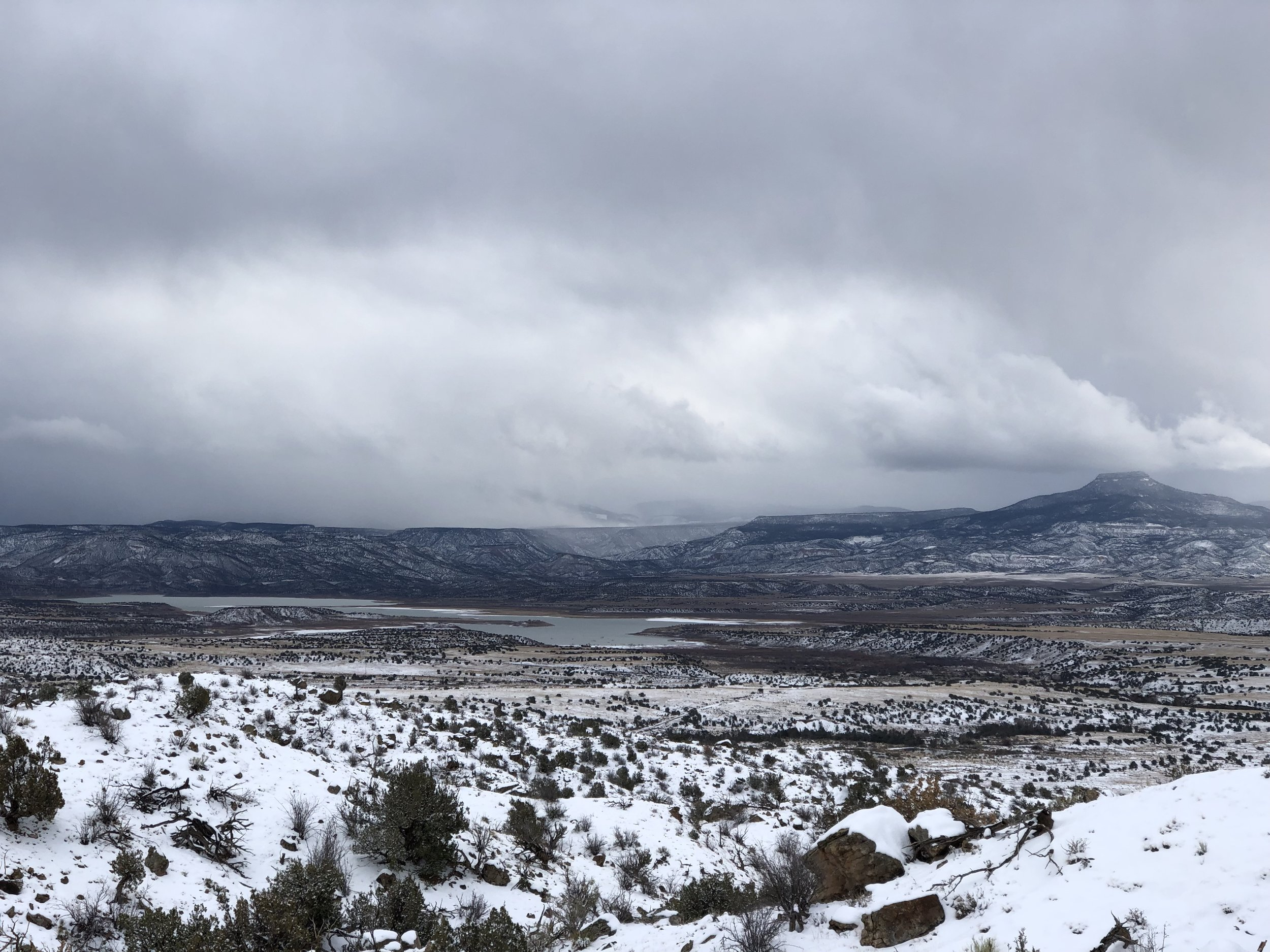 Looking out over Abiquiu Lake