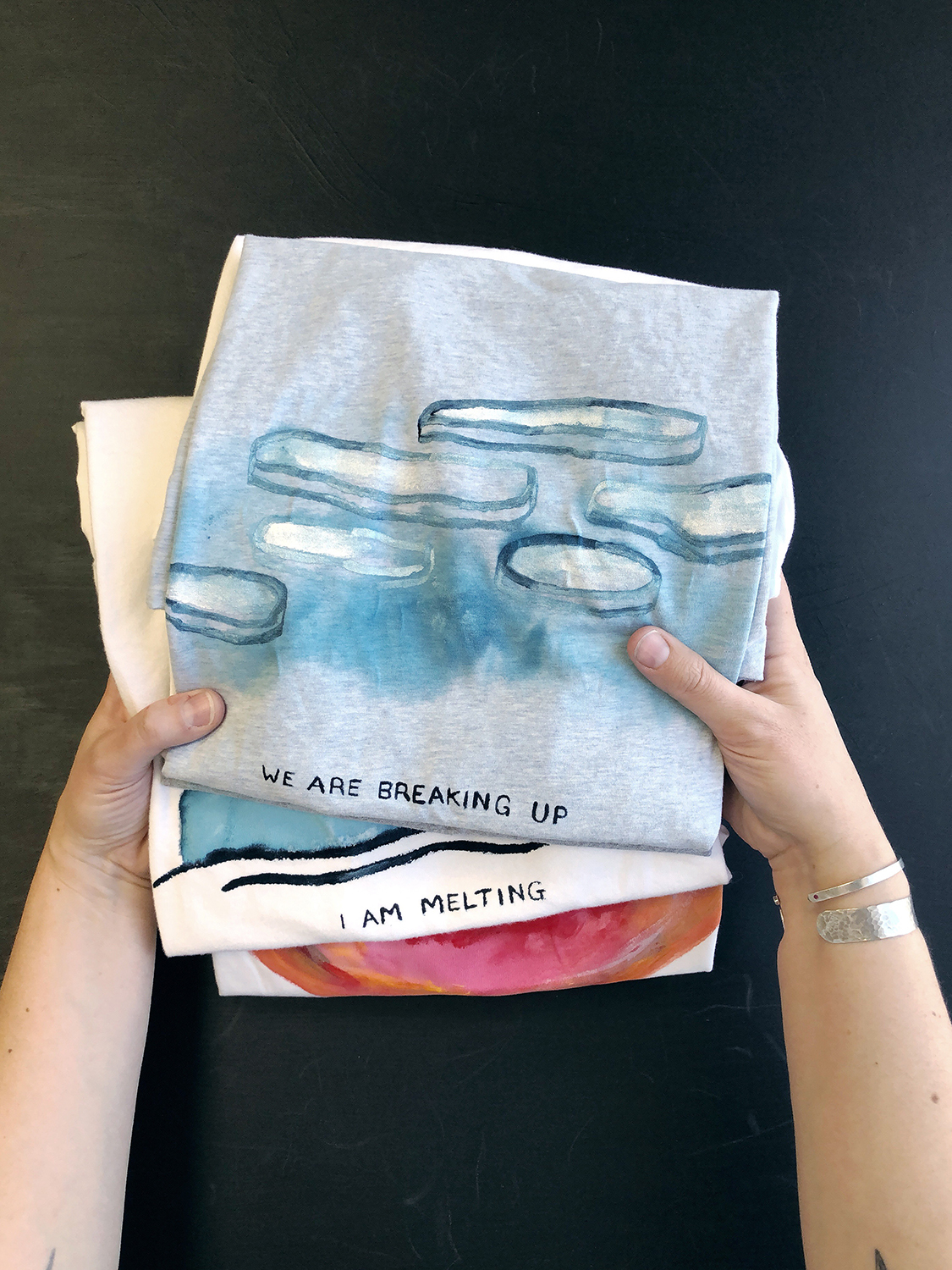 Climate Change T-shirts - We Are Breaking Up - Rebecca Mir Grady