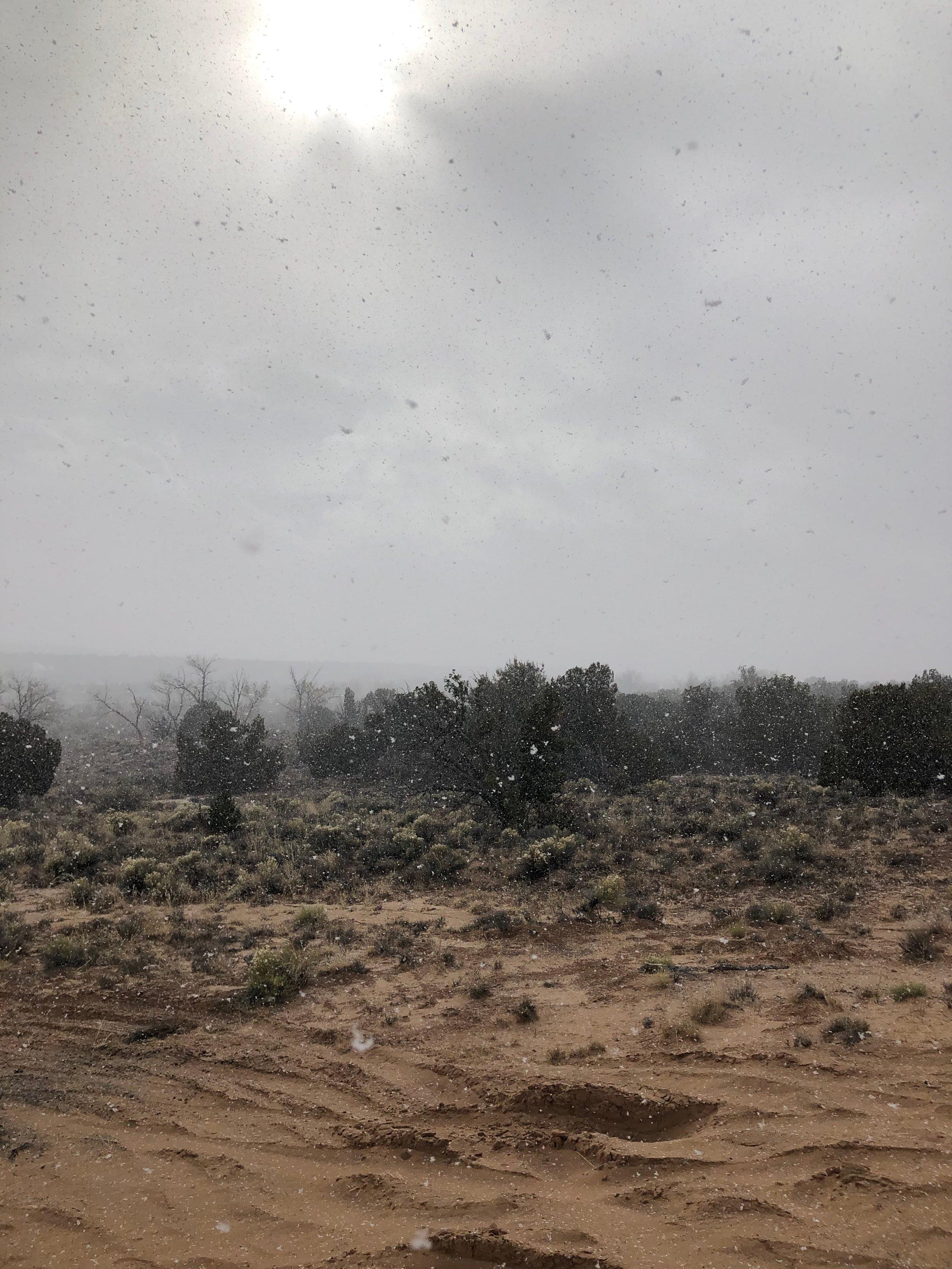 snowstorm in abiquiu