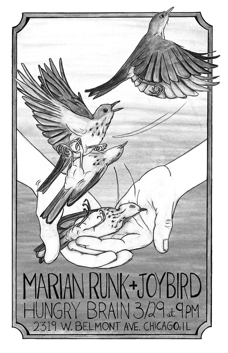 Marian Runk's upcoming show poster, image courtesy of Marian Runk