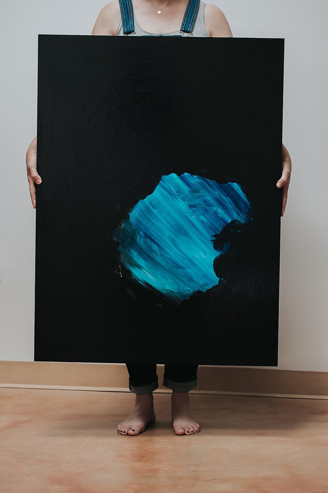 Underneath painting by Rebecca Mir Grady