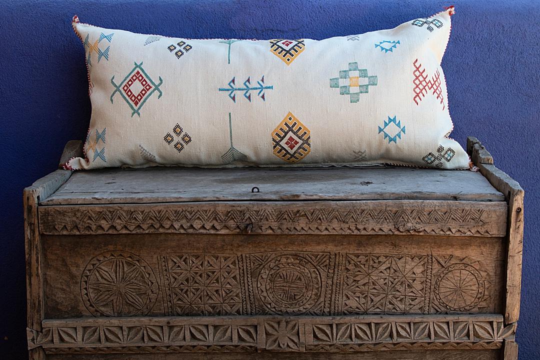 WorldWomenWork Moroccan Cactus Silk pillow