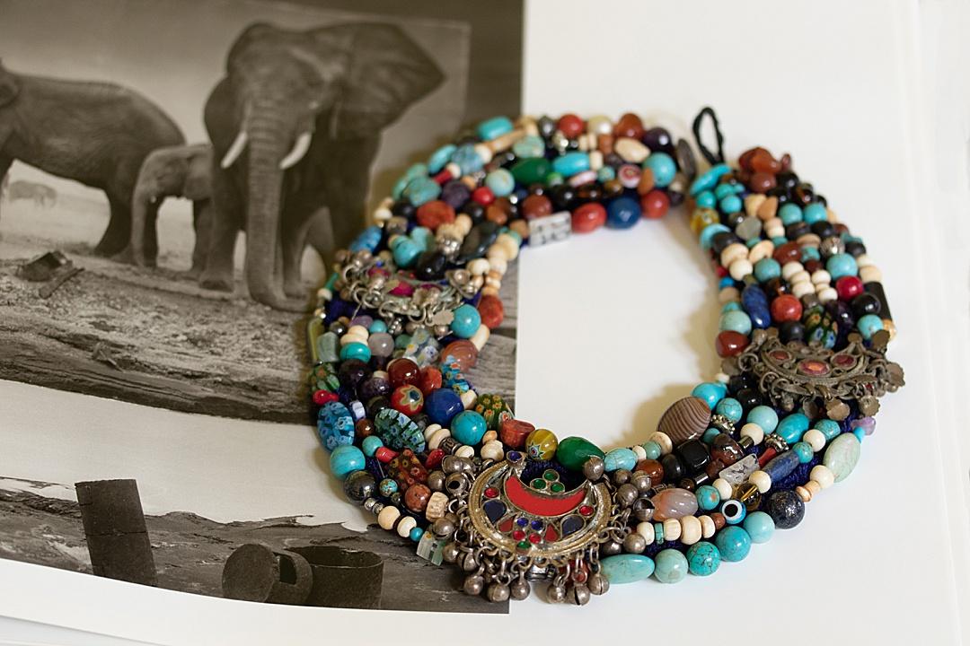 WorldWomenWork Vintage Beaded Collar Necklace