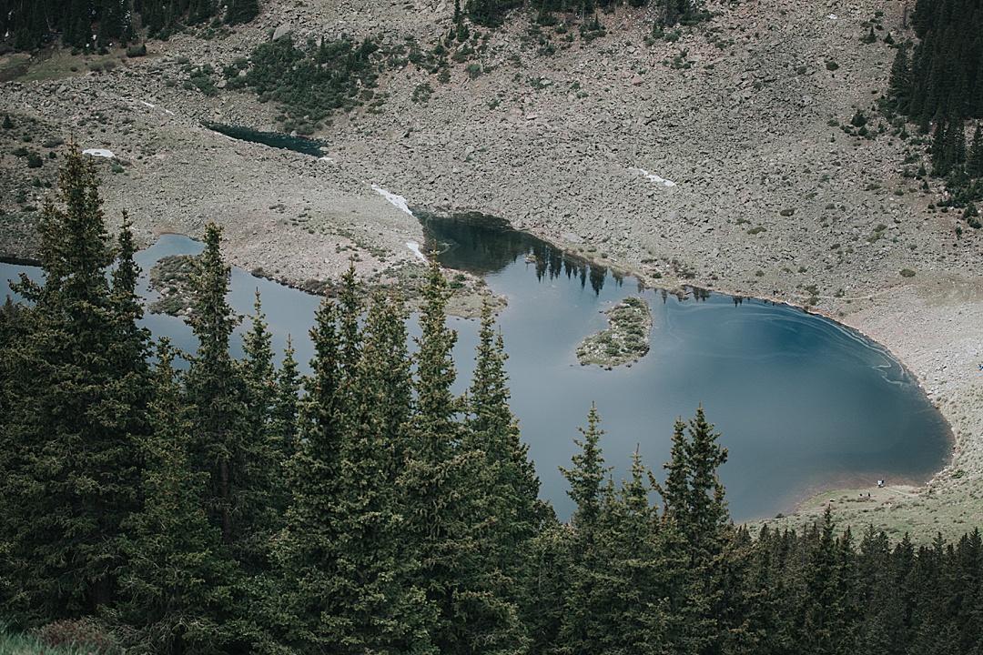 Looking down on Williams Lake