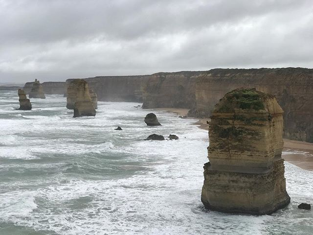 Australia: Day 2. Today we visited a few locations we missed yesterday (due to excessive time with birds). This is a photo of the #12apostles and it's incredible. I've always loved rocks standing in water which is why I enjoy the Portland coast so much. The great ocean road drive here takes this to the next level. #nofilter #shotoniphone #iphone7plus #iphoneonly #australia #greatoceanroad #the12apostles