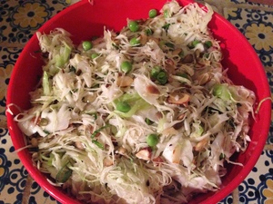 Shaved Cabbage Salad