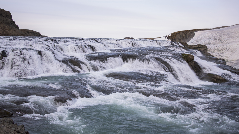 Gullfoss, one of the largest waterfalls in Europe.