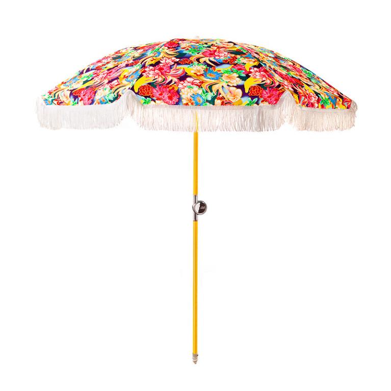 Basil Bangs  Calypso Beach Umbrella $279