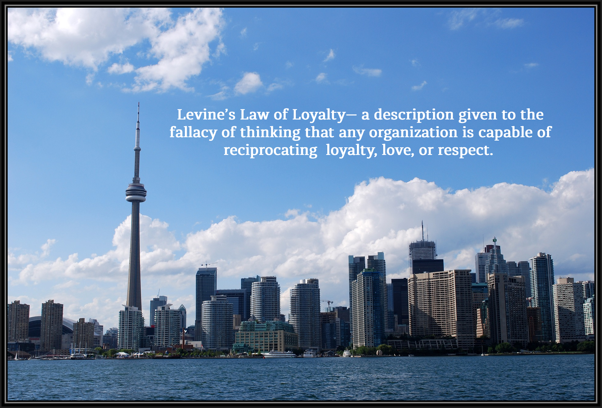 am I Next? Levine's Law of LoyaltyJob Loss, Unemployment, Downsizing, Laid Off