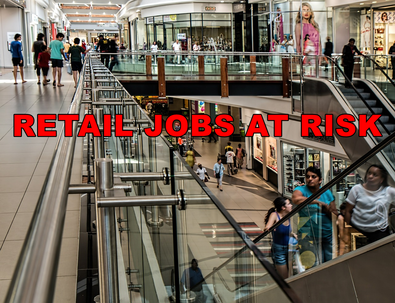 Am I Next? Job losses in retail. Automation. Robotics. Artificial Intelligence