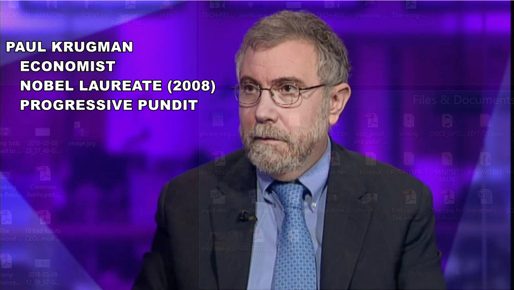 Am I Next? The Problem with Economists, Paul Krugman