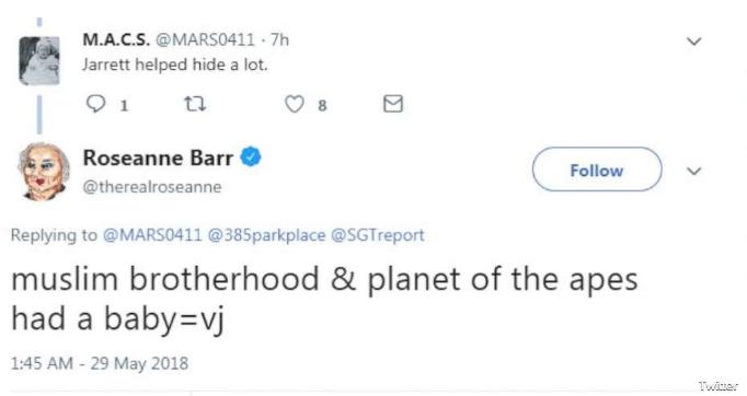 Am I Next? Roseanne Barr's allegedly racist tweet about Valerie Jarrett