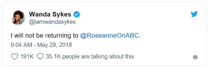Am I Next? Comic Wanda Sykes on Roseanne Barr's tweet.