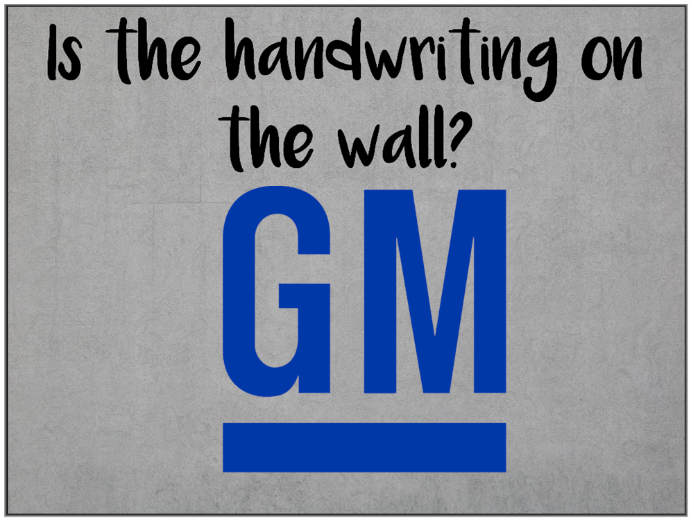 Am I Next? Mass layoffs (14,000) and plant closings at General Motors.