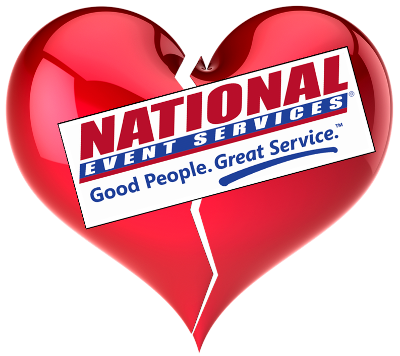 Am I Next, National Event Services to close California office.