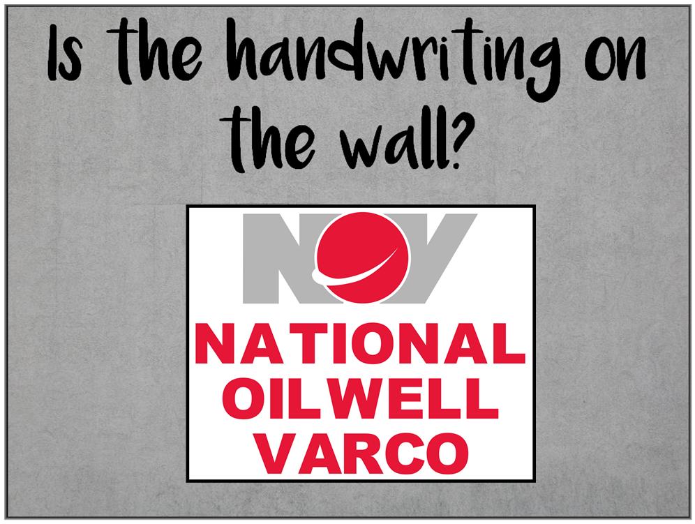 Am I Next? Major billion dollar loss at National Oilwell Varco - can layoffs be far behind?