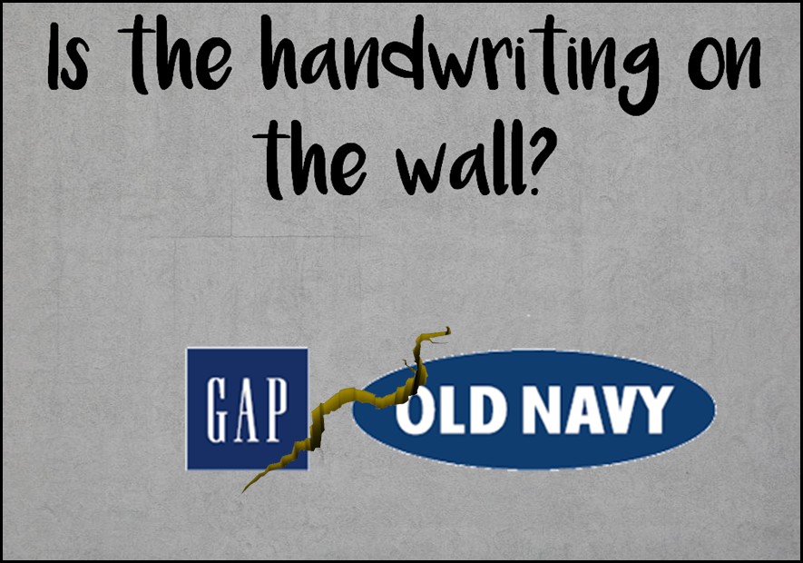 Am I Next? Gap to spin off Old Navy. Danger ahead?