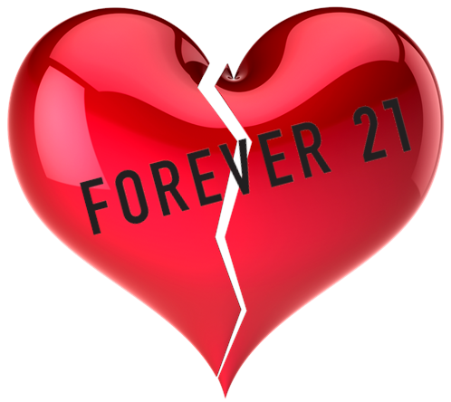 Am I Next? Forever 21 fashions files for bankruptcy. Plans major store closings.