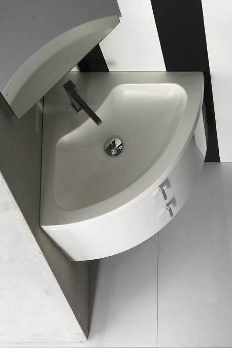 Lavabo Ad Angolo Con Mobiletto.Quantum Arcom Arredobagno