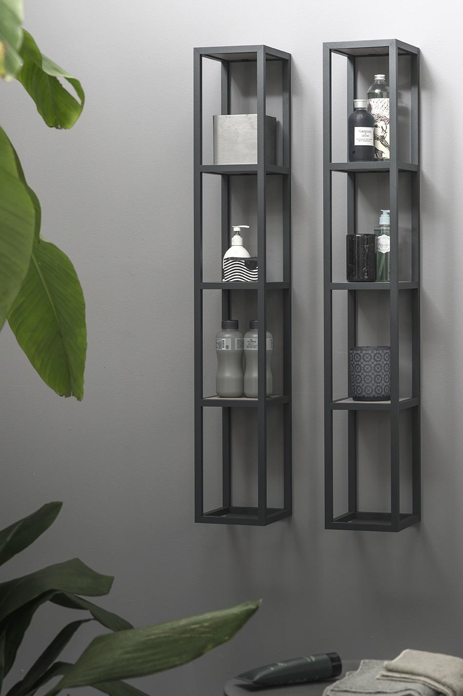 Complementi in metallo - I nuovi pensili a giorno in metallo hanno ripiani e strutture personalizzabili, disponibili in tante misure per poter essere disposti a parete o di fianco le basi.