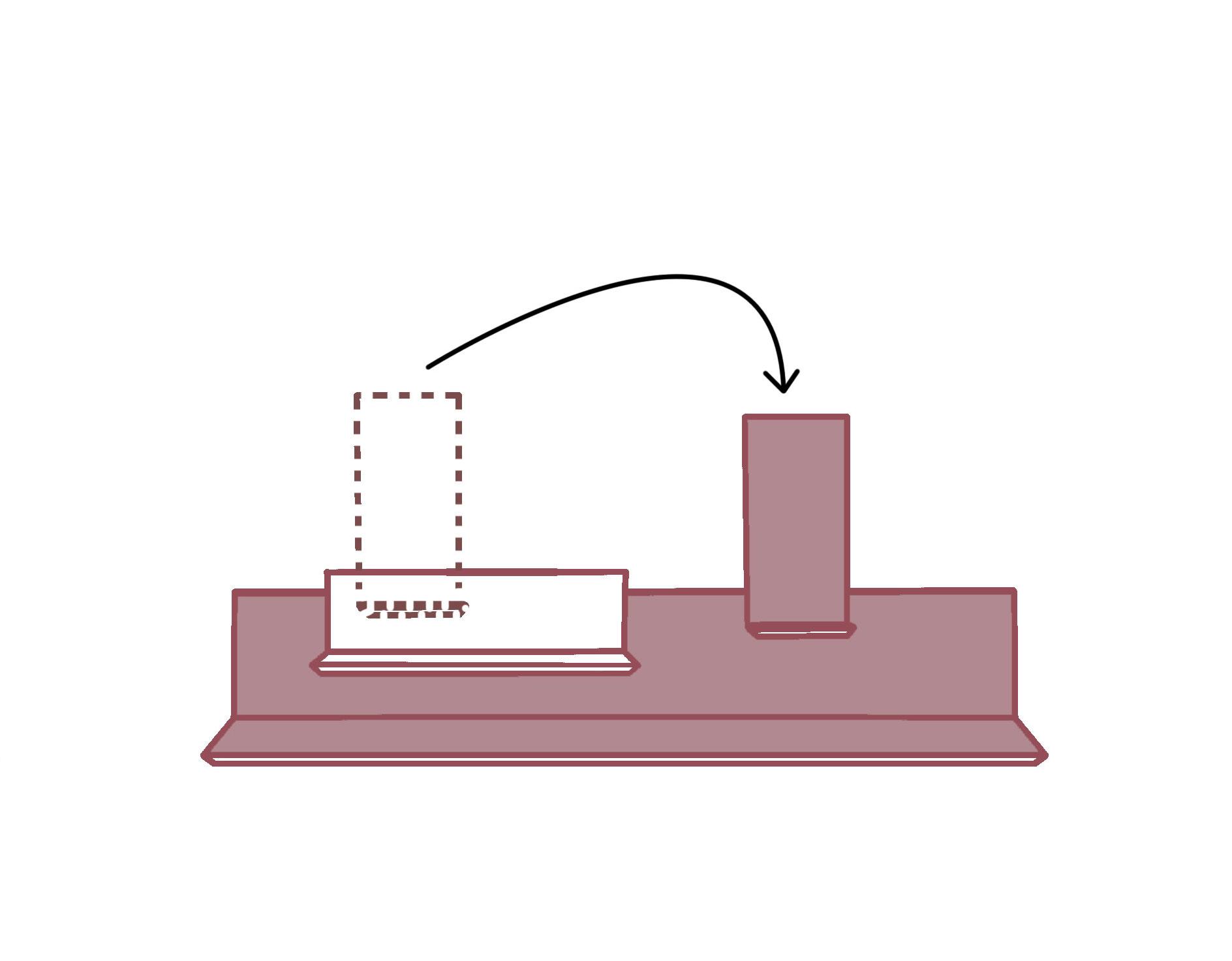 2. Spostali quando vuoi - Le mensole sono dotate di un sistema di aggancio sul retro che ti consente di riposizionarle in qualsiasi momento, per poter creare configurazioni sempre nuove